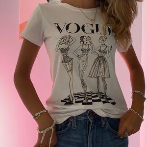 Boutique vogue shirt with jewelry